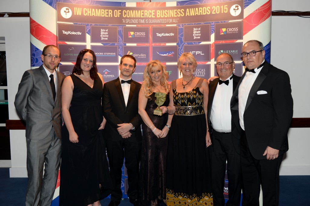 IW Chamber of Commerce Business Awards For Excellence 2015. Professional and Business Services Award winners Lifeline Alarms.