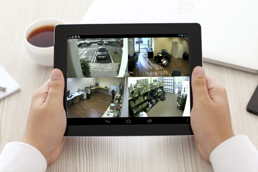 Intruder Detection iPad monitor